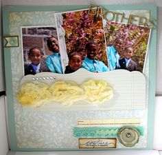 scrapbook page - love the pocket