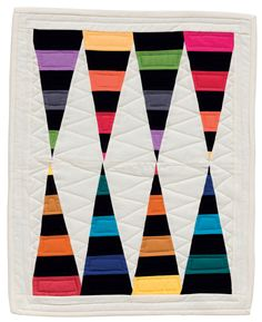 """""""Stalagstripes"""" by Pippa Eccles Armbrester, in: Fun-Size Quilts by Karen M. Burns"""