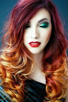 Ombre red- orange hair
