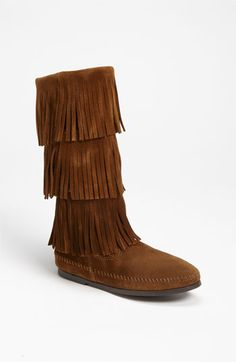 Minnetonka 3-Layer Fringe Boot available at #Nordstrom