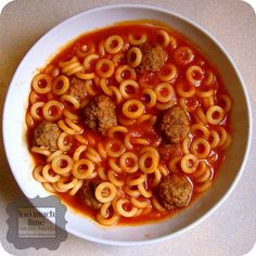 Homemade Spaghettios from Too Much Time On My Hands  - I can't believe I'm actually thinking about making these but who doesn't love spaghettios.