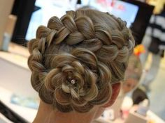 Flower!! french braids, hair flowers, long hair, wedding hairs, flower power, girl hairstyles, braid hair, flower girls, flower hair