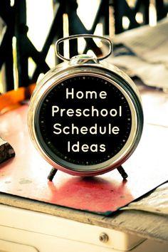 Home Preschool Schedule Ideas - Fantastic Fun & Learning