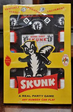 Vintage Game 1950s Skunk Party Game