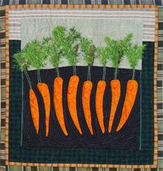 Carrot quilt from the Textile Cuisine blog, art quilt by Bozena Wojtaszek easter, carrot quilt, textil cuisin, art quilt, textiles, carrots, appliqu, cuisin blog, bozena wojtaszek