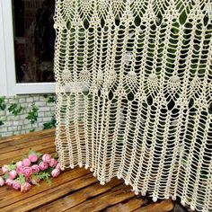 Cotton Crochet Curtain