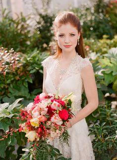 Claire Pettibone Wedding Dress   Full shoot on SMP: http://www.stylemepretty.com/virginia-weddings/2013/11/26/claire-pettibone-shoot-at-the-market-at-grelen-from-jen-fariello   Photography: Jen Fariello