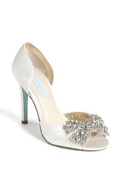 Something Vintage Glitz...check out the blue sole! Blue by Betsey Johnson 'Gown' Sandal available at #Nordstrom