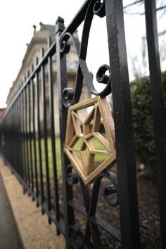 Order of the Eastern Star emblem in the fence around the Order of the Eastern Star headquarters in Washington, DC. The Order of the Eastern Star is a fraternal organization for Masons and their female relatives to share in the principles of Freemasonry.