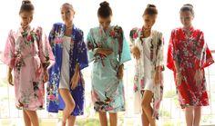 floral kimonos