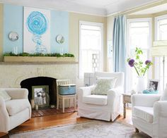 CAPE COD Cottage Interior - Modern Mantel