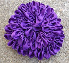 how to make a ruched flower zinnia  #VioletsBuds