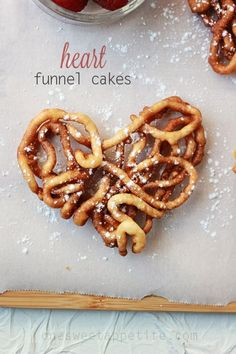 Heart Shaped Funnel Cakes. So fun to make and a great tradition to start this valentines day!