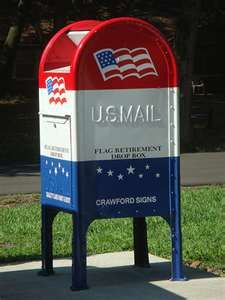 Red, White and Blue Mailbox