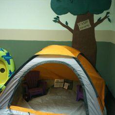 Preschool camping center tent, 2 yr old preschool, preschool camping