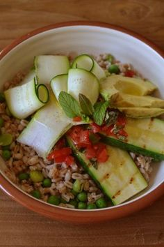 Spelt and courgette