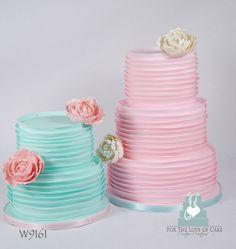 Pink & Aqua Ruffle Cakes