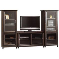 Sauder Vinegate TV Stand and Storage Towers Value Bundle