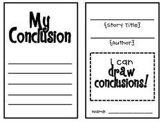 drawing conclusions booklet
