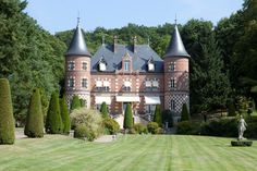 STATS 5 BEDROOMS 5 BATHS 11,800 SQ. FT. $10 MILLIONGracing 74 private acres, the façade of this 19th-century château 20 miles west of Paris features a whimsical checkerboard pattern rendered in brick and stone. Inside, period details and soaring ceilings of painted wood showcase the Second Empire–style grandeur.