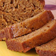Pumpkin spiced bread.