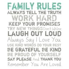 Family Rules!