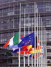 EU flags fly at half-mast 9/11/01