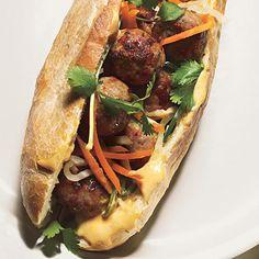 Pork Meatball Banh Mi Recipe | Epicurious.com