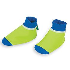 "Easy Ways to Protect Baby From The Sun from Parents.com.  ""With the rest of his skin to worry about, it's easy to forget those little feet when it comes to sun protection. If your baby kicks off shoes or balks at sandals, try Surf Socks from One Step Ahead. They feature a non-slip sole and toe cap and there is UPF 50 in the fabric."""