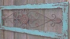 headboard, wrought iron screen door, old screen doors, bedroom walls, wrought iron decorations