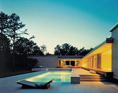 Modern house, modern pool.