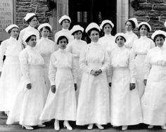 School of Nursing Class of 1917 at the Jewish Hospital which became the Northern Division of the Albert Einstein Medical Center in 1952.