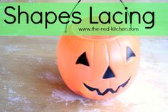 Shapes Lacing -- A Fun & Easy Preschool Activity    www.the-red-kitchen.com