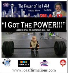 """http://www.loaradionetwork.com/portfolios/rj-banks/ Discover your Power and Empower your life by learning how to create powerful and extremely effective """"I AM"""" affirmations. Plus, learn how to lazer focus your imagination and visualization with video vision boards using today's incredible (and easy to use) computer/digital technology. Guaranteed to turbo charge your attractor factor x's a million!!!"""