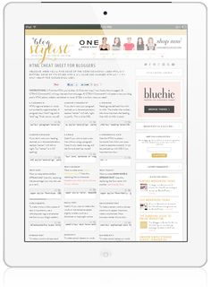 HTML cheat sheet for bloggers-- simply cut and paste frequently used code