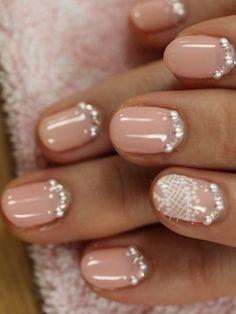 Bridal Nail Art Idea