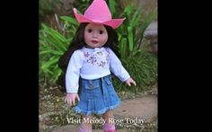 "18"" Doll Melody Rose with brown hair and brown eyes. Harmony Club Dolls"