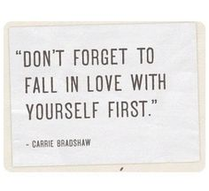 carrie bradshaw has the best advice <3