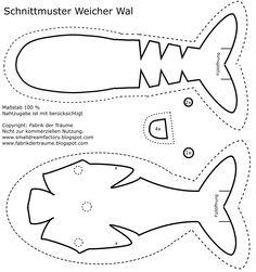 Kostenloses Schnittmuster für einen Wal