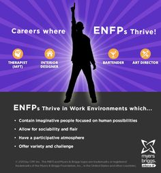 The careers and workplaces where ENFPs thrive! #MBTI #myersbriggs #careers