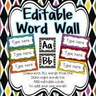 ** This is a ZIP file **  This bright and colorful word wall is sure to cheer up your classroom!  Comes with ALL words from the Dolch sight words l...
