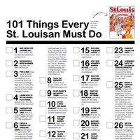 101 Things Every St. Louisan Must Do - St. Louis Magazine - April 2013 - St. Louis, Missouri