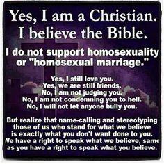 Yes, I am a Christian...