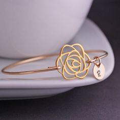 georgiedesigns - Gold Rose Bracelet