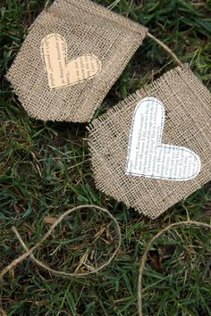 Burlap and old paper