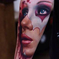 Amazing forearm ink! #tattoos #tattoo #face #realistic #realism #beautiful #face #closeup #detail