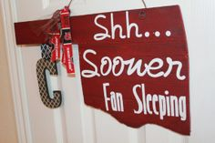 OU baby door hanger  personalized sign by Cutipiethis on Etsy. , via Etsy.