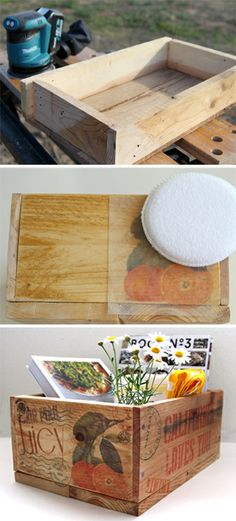 Pallet Wood Crates  Easy Image Transfer
