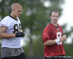Drew Brees and Jimmy Graham #Saints #NOLA #WhoDat