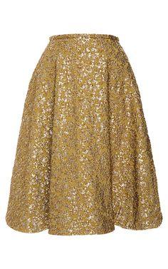 Metallic-Jacquard Skirt by Rochas - Moda Operandi